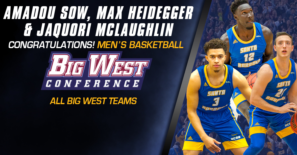 Heidegger Named First Team All-Big West, Leading a Trio of UCSB Honorees