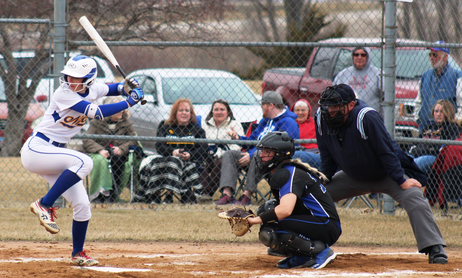 Hannah Faktor gets ready to bat in a game last week against Kirkwood.