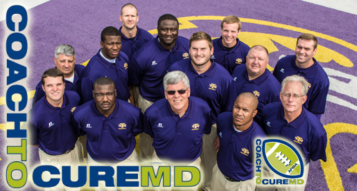 Golden Eagle football staff participating in nationwide Coach To Cure MD