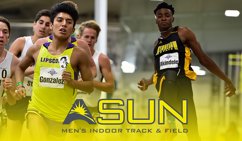 Gonzalez and Akindele Designated Indoor #ASUNTF Weekly Award Winners