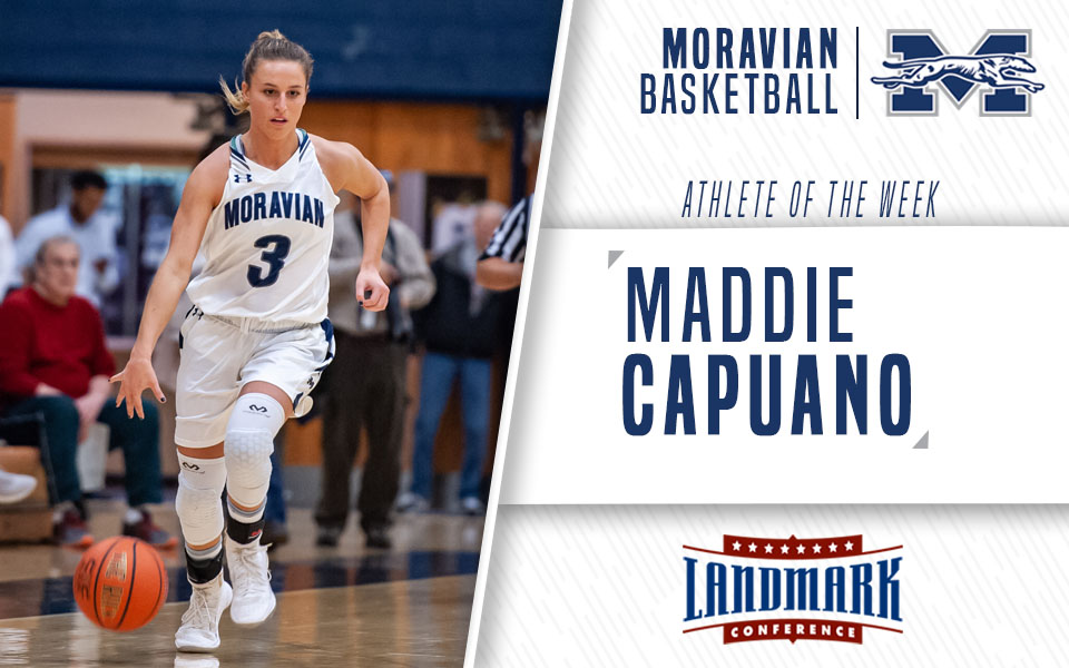 Junior Maddie Capuano Honored as Landmark Conference Women's Basketball Athlete of the Week.
