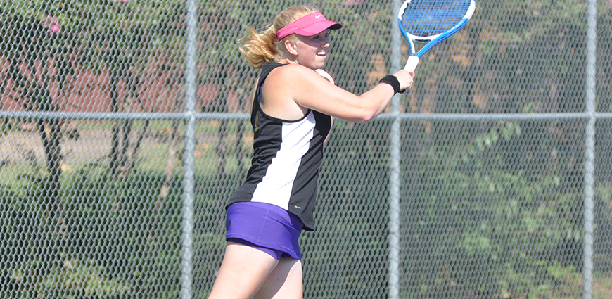 Women's Tennis Team Opens Spring Season With 5-4 Win To Give Dees First Collegiate Win