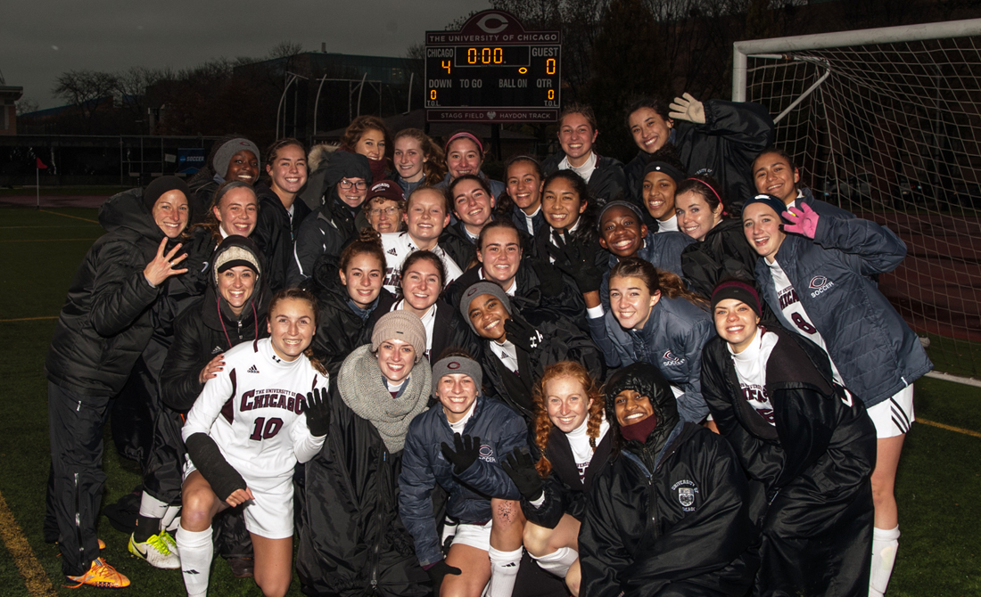 UChicago Women's Soccer Clinches Spot in NCAA Final Four With 4-0 Victory over Wisconsin-La Crosse