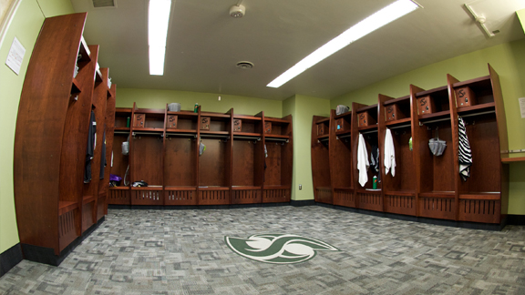 WOMEN'S BASKETBALL AND GYMNASTICS RECEIVE NEW LOCKER ROOMS