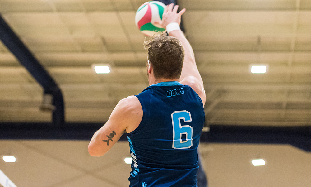 Regular season for men's volleyball ends with loss to Conestoga