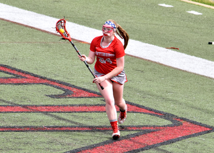 Olivia Stinson had one goal and three ground balls in Thursday's loss to Hendrix.
