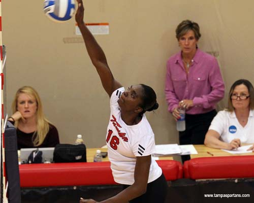 Selkridge totaled 25 kills in the pair of wins for Tampa