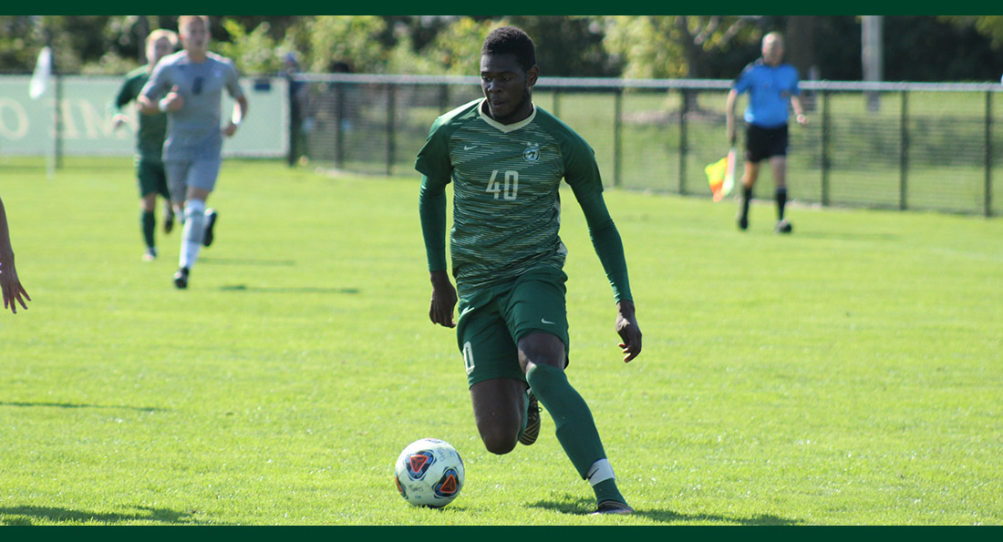 Ramiesh McKnight scored both goals in Tiffin's 2-1 win over Davis & Elkins.