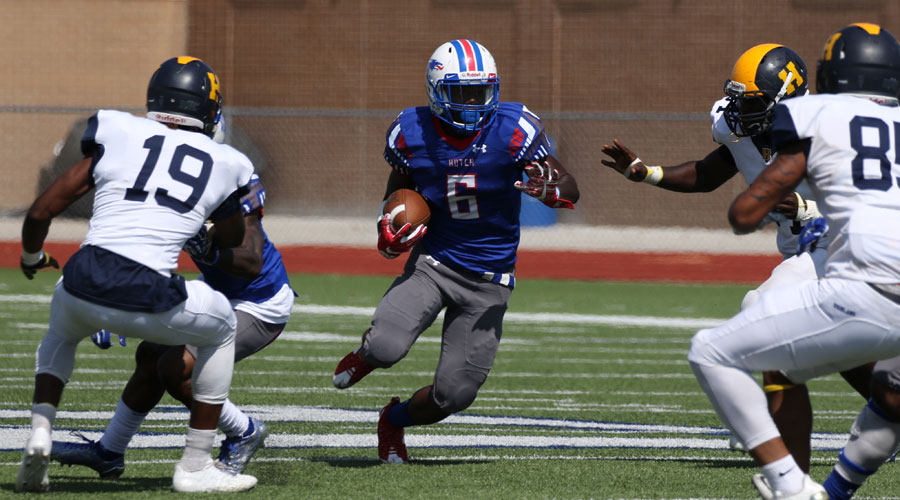 The Blue Dragon Football team closes the 2017 regular season with a 1 p.m. kickoff at Dodge City on Saturday. (Joel Powers/Blue Dragon Sports Information)
