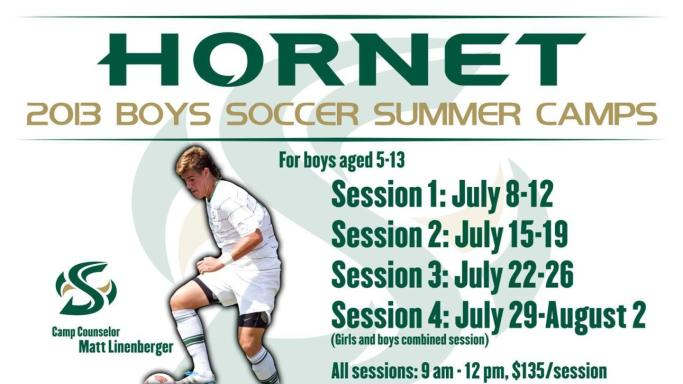 PLENTY OF SOCCER CAMP OPTIONS AVAILABLE BETWEEN MAY AND AUGUST
