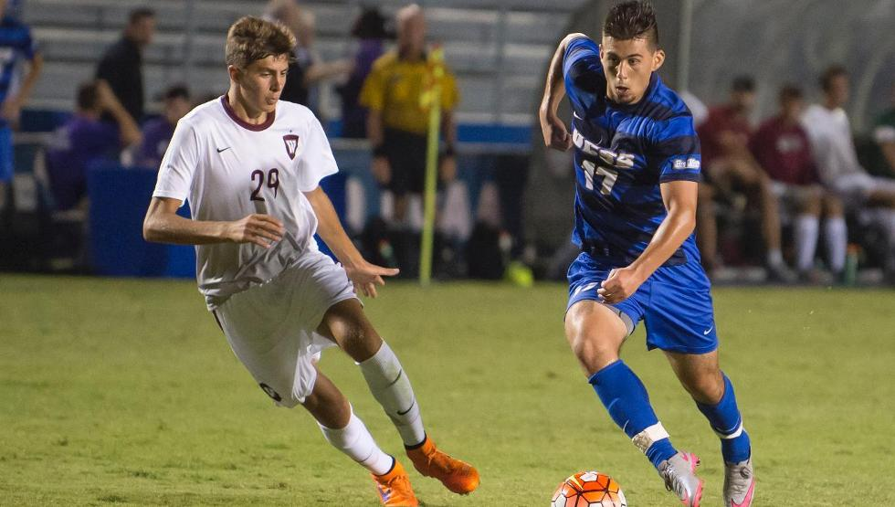 Andy Perez scored the game-winner on Friday as UCSB topped Yale 2-0 (photo by Tony Mastres)