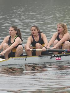 Women's Crew Posts Third Place In Novice Four At Season Opening Textile River Regatta