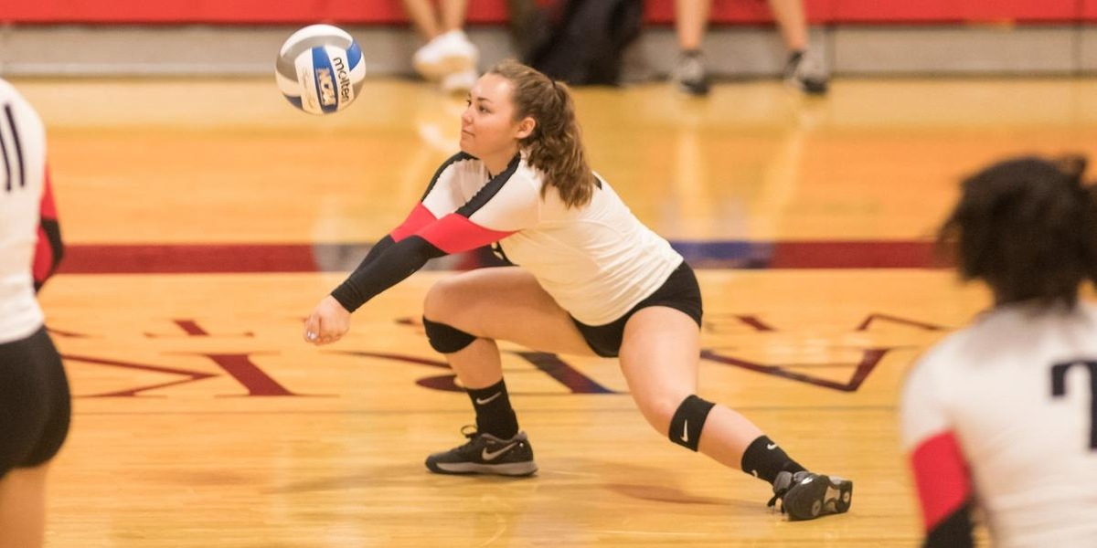 Volleyball Sweeps Mount Holyoke in NEWMAC Showdown
