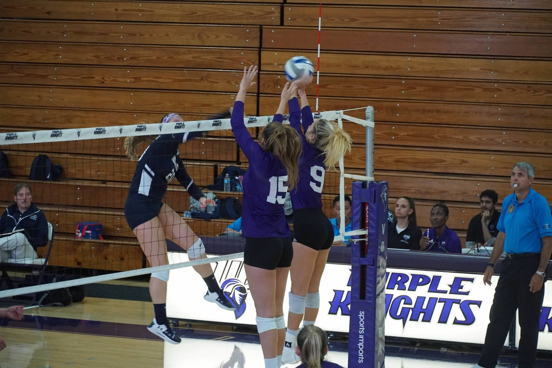 Purple Knights Wrap Up 2019 Home Schedule With Four-Set Triumph Over AIC