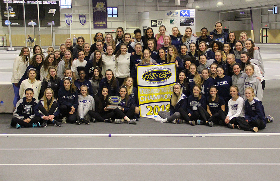 Geneseo wins 2019 women's indoor track and field championship