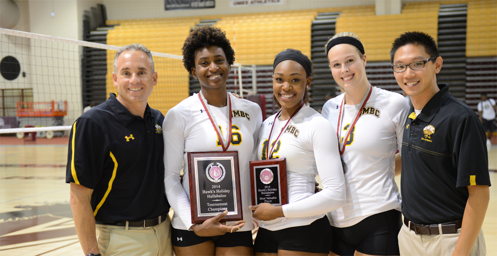 Volleyball Sweeps Saturday to Win Hawks Hullabaloo Holiday Tournament