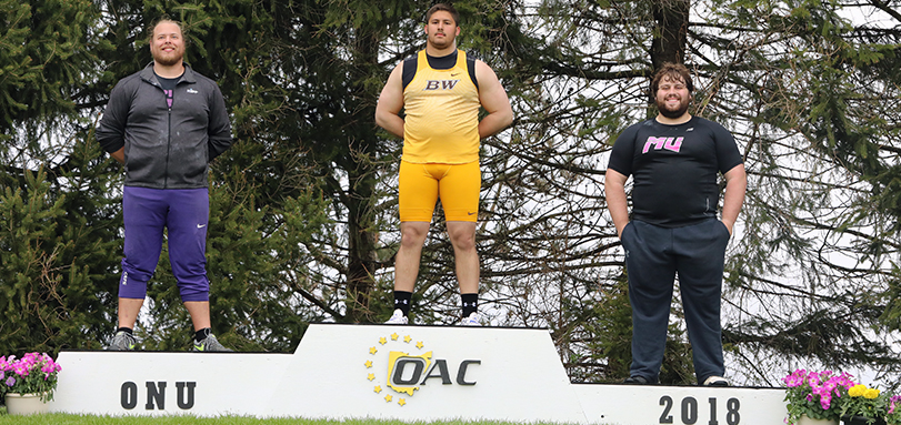 Ted Achladis is OAC Champion in shot put