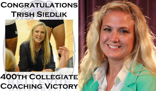 Trish Sieklik picked up her 400th collegiate coaching victory with a 3-1 win over Culver-Stockton
