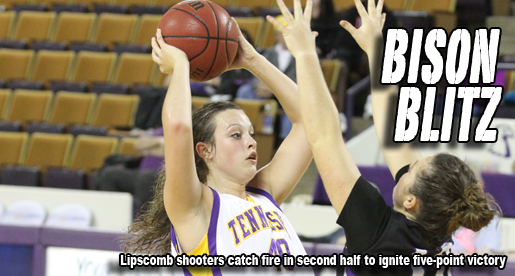 Red-hot second half lifts Lipscomb to 66-61 win over Golden Eagles