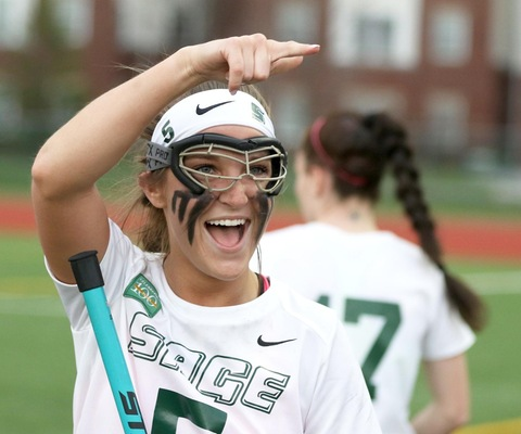 Koralus records 200th career point after adding 11 in Sage's 19-12 win over Elms