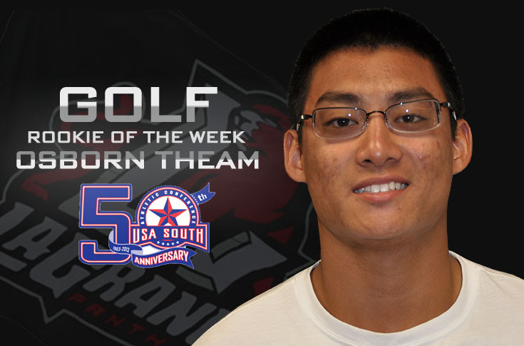 Golf: Panthers' Theam selected as USA South Rookie of the Week