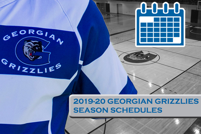 GEORGIAN GRIZZLIES 2019-20 OCAA VARSITY SCHEDULES REVEALED