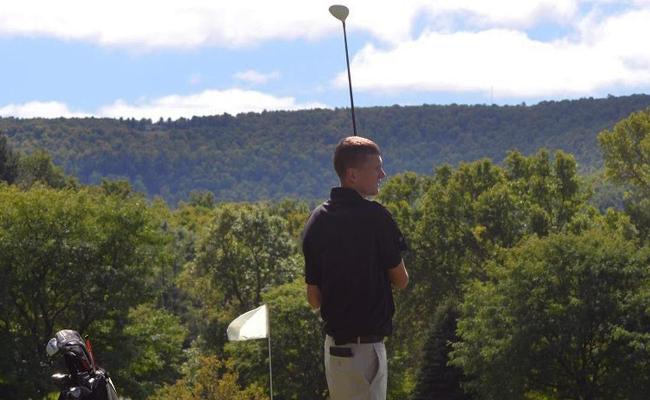 Harrison Sardella tied for 18th place as the Keuka College men's golf team earned a sixth-place finish Tuesday during the annual Elmira College Fall Invitational.