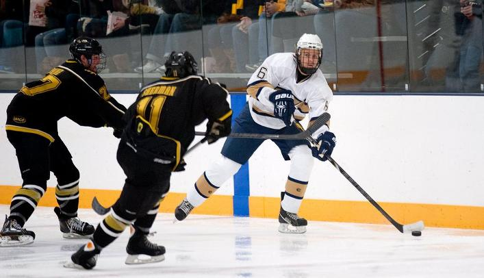 Men's Hockey Rebounds with 7-0 Victory Over Concordia