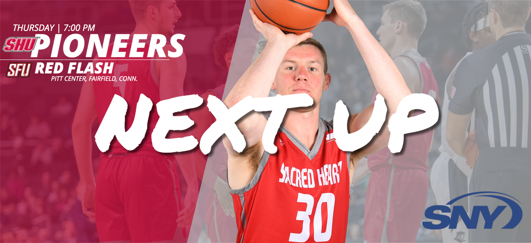 Kinnon LaRose had his second double-double of the year in the Pioneers win at St. Francis Brooklyn in SHU's last outing. The Pioneers begin a three-game homestead on Thursday night on SNY. (Photos: Steve McLaughlin).
