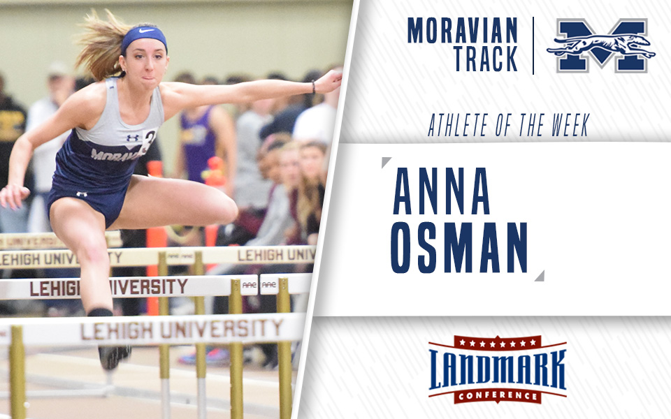Anna Osman named Landmark Conference Women's Track Athlete of the Week.