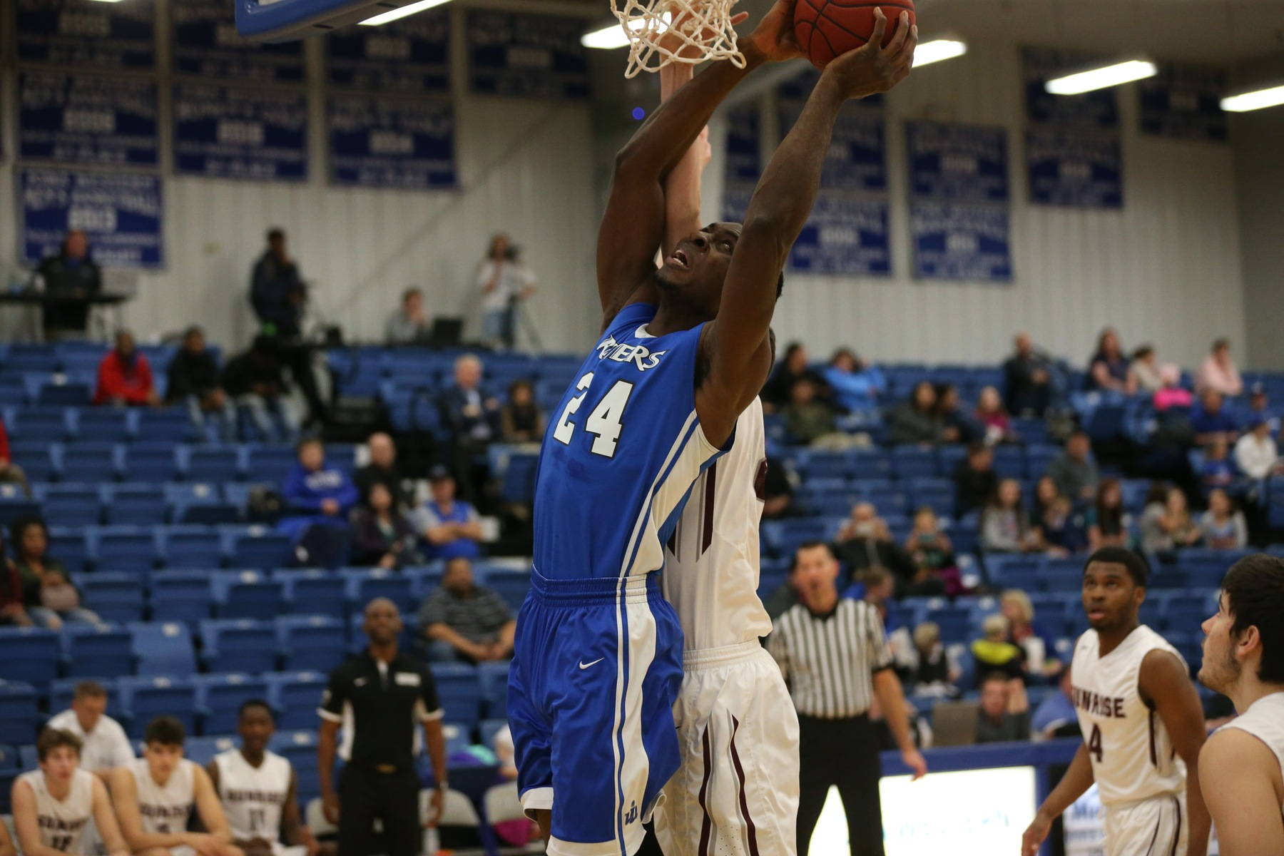 Iowa Western's Emmanuel Ugboh scored 12 points and grabbed 7 rebounds in only 17 minutes of foul plagued action Friday evening (11/2/18) against Sunrise Christian.