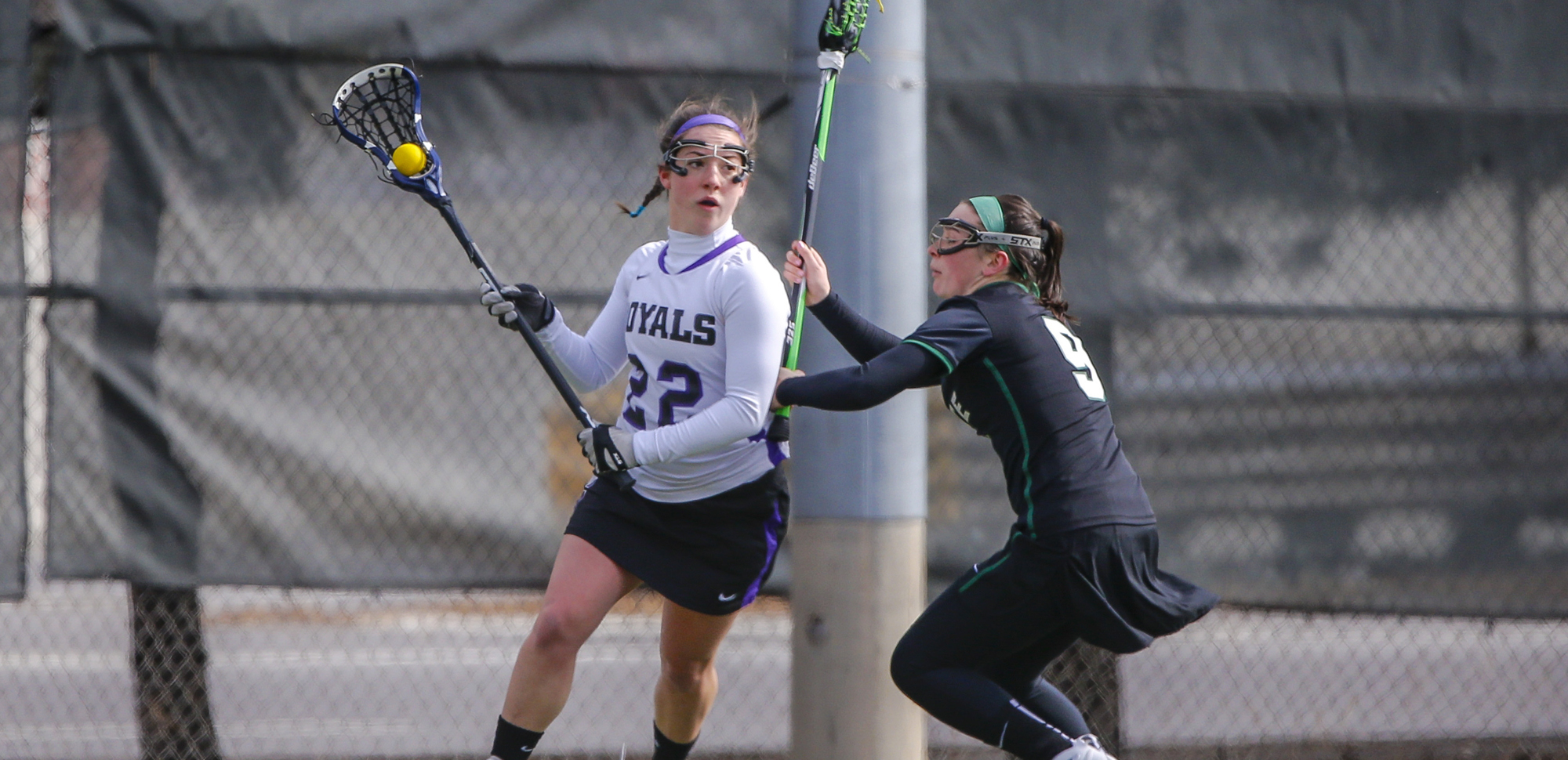 Senior Meghan Kerr scored four goals in the first half and finished with six tallies for the day, as the University of Scranton women's lacrosse team raced past Lebanon Valley on Sunday, 17-5.