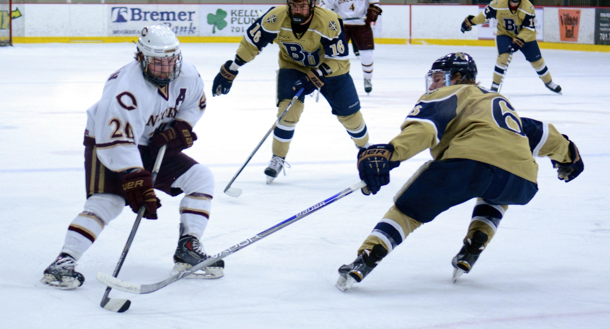 Senior Jeremy Johnson scored the game-winning goal in the Cobbers' playoff-clinching 6-2 victory at Bethel.