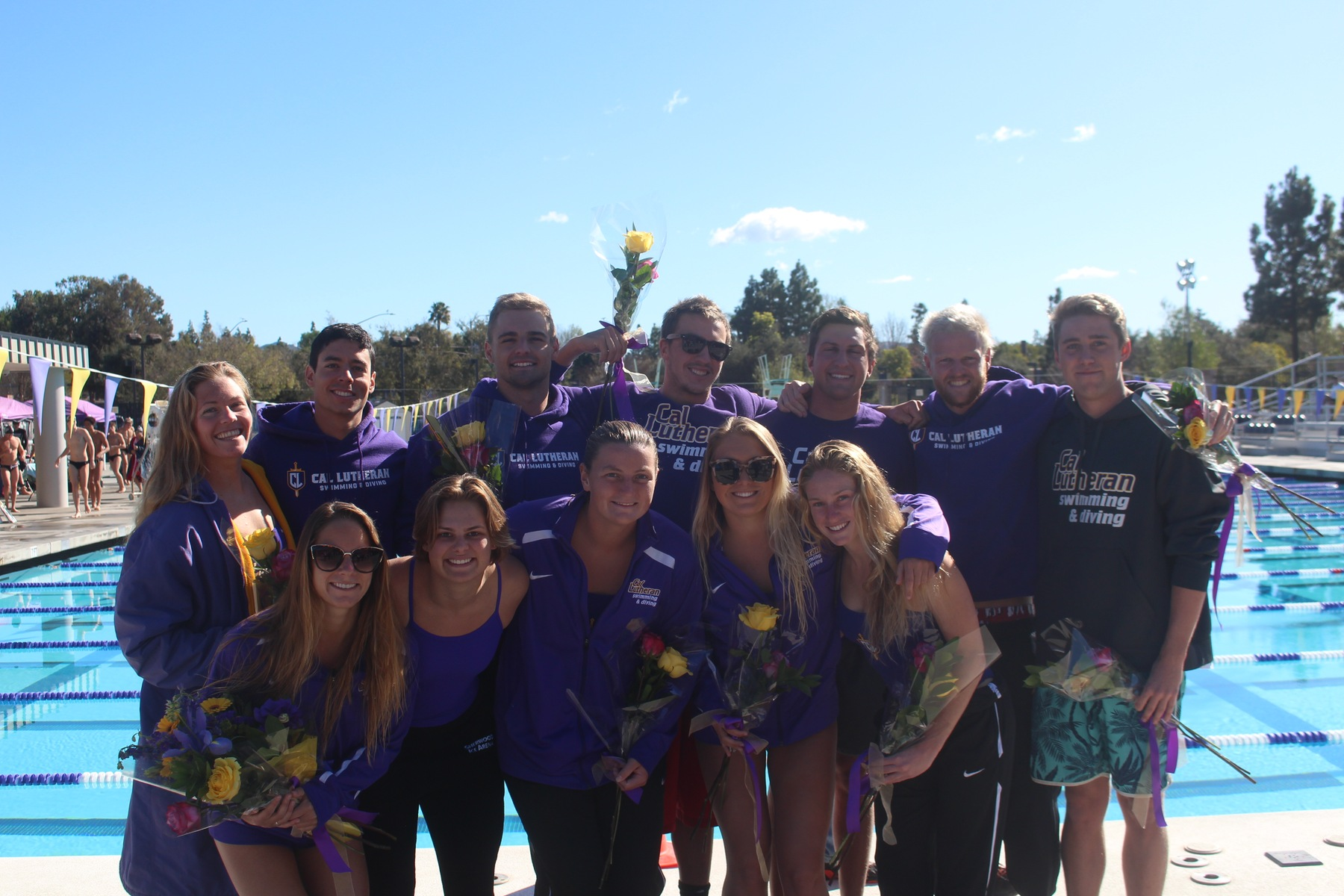 Swimming and Diving Defeats Whittier on Senior Day