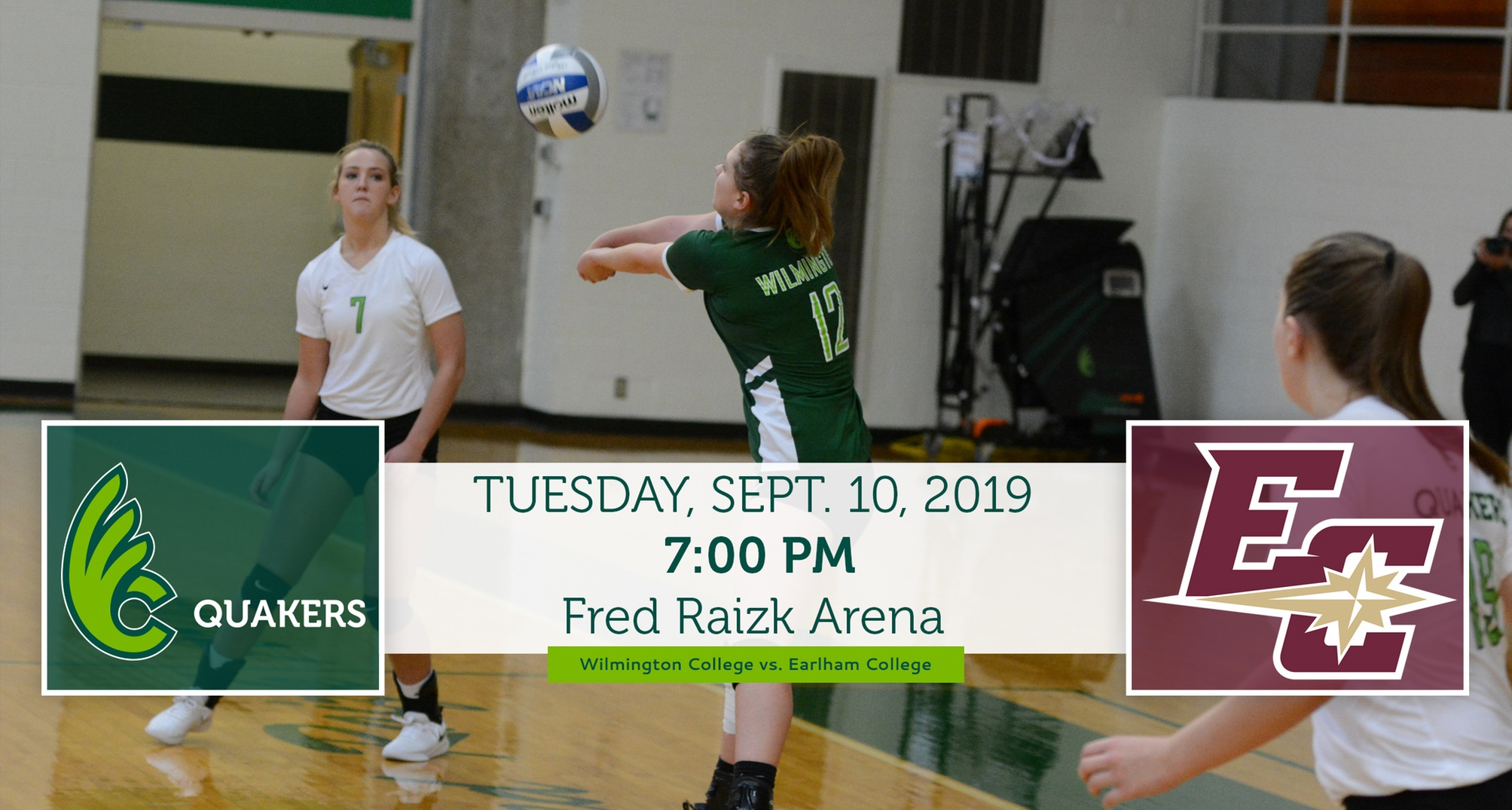 Volleyball Hosts Earlham in Quaker Bowl Rivalry Game Tuesday