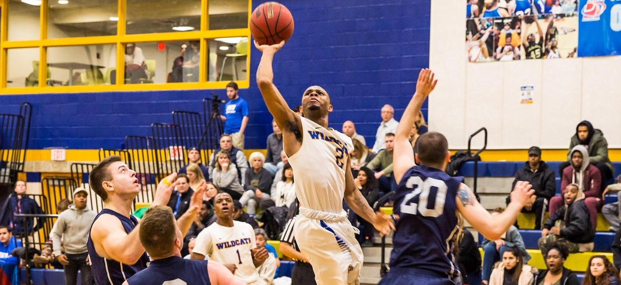 Men's Basketball Beats Suffolk 83-68 to Move on in GNAC Playoffs