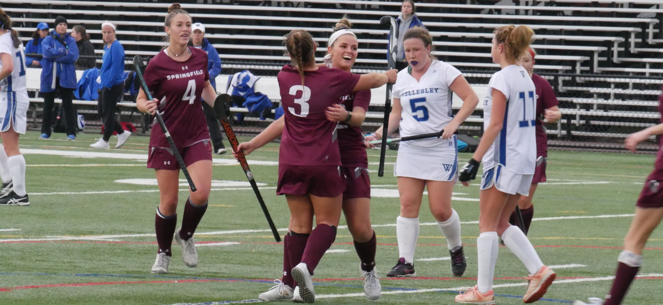 Field Hockey Holds On For 2-1 Victory Over Wellesley In NEWMAC Championship Quarterfinals