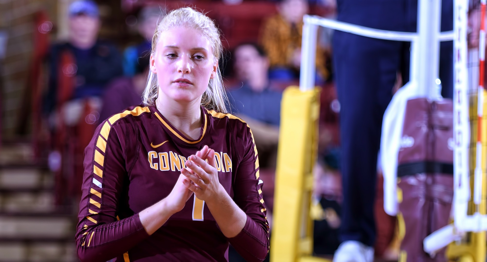 Bailey Gronner had a career-high 13 kills in the Cobbers' match at St. Mary's.
