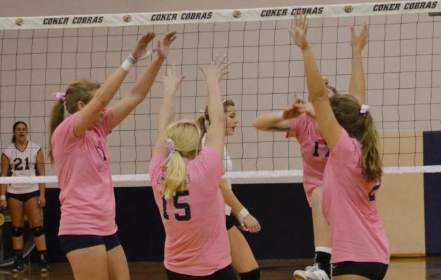 Coker Rallies Past UNC Pembroke in Five