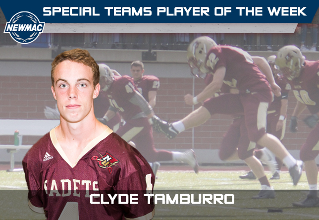 Clyde Tamburro - NEWMAC Special teams Player of the Week