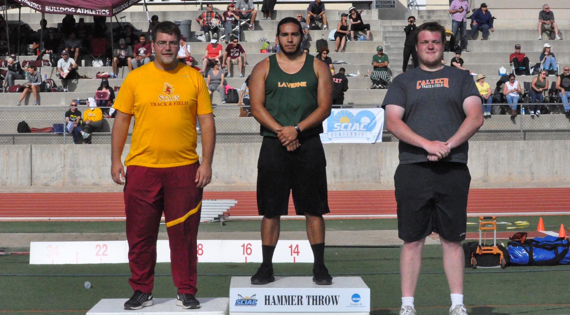 Carrasco, throwers carry Leopards on SCIAC Championship Day 1