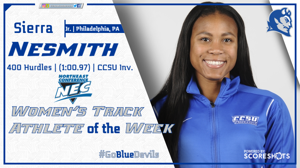 Nesmith Named NEC Women's Track Athlete of the Week