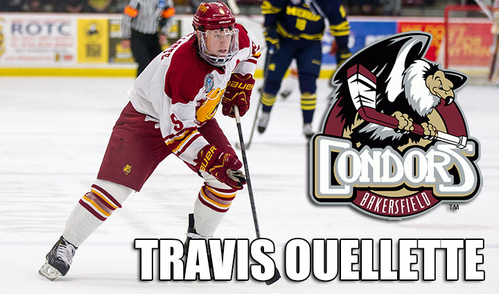 Ferris State's Travis Ouellette Inks With ECHL's Bakersfield Condors