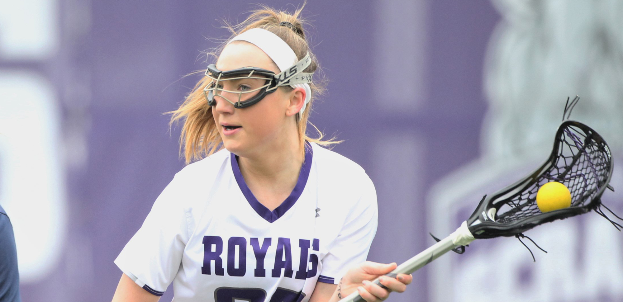 Junior Jill Henson matched her career-high with six goals in a 14-7 win over Misericordia on Wednesday and has been named Scranton Athlete of the Week for her performance. © Photo by Timothy R. Dougherty / doubleeaglephotography.com