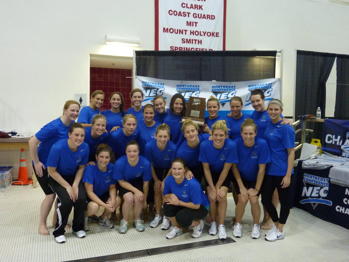 Swimming and Diving Takes Second at 2011 NEC Championships