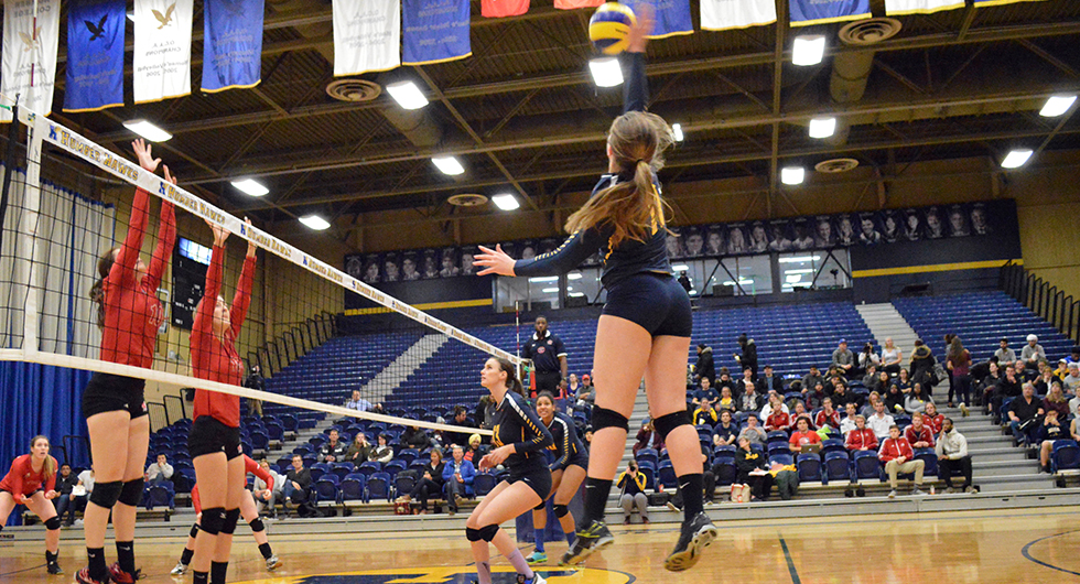 No. 2 HAWKS DOWN ROYALS FOR STRAIGHT SET VICTORY