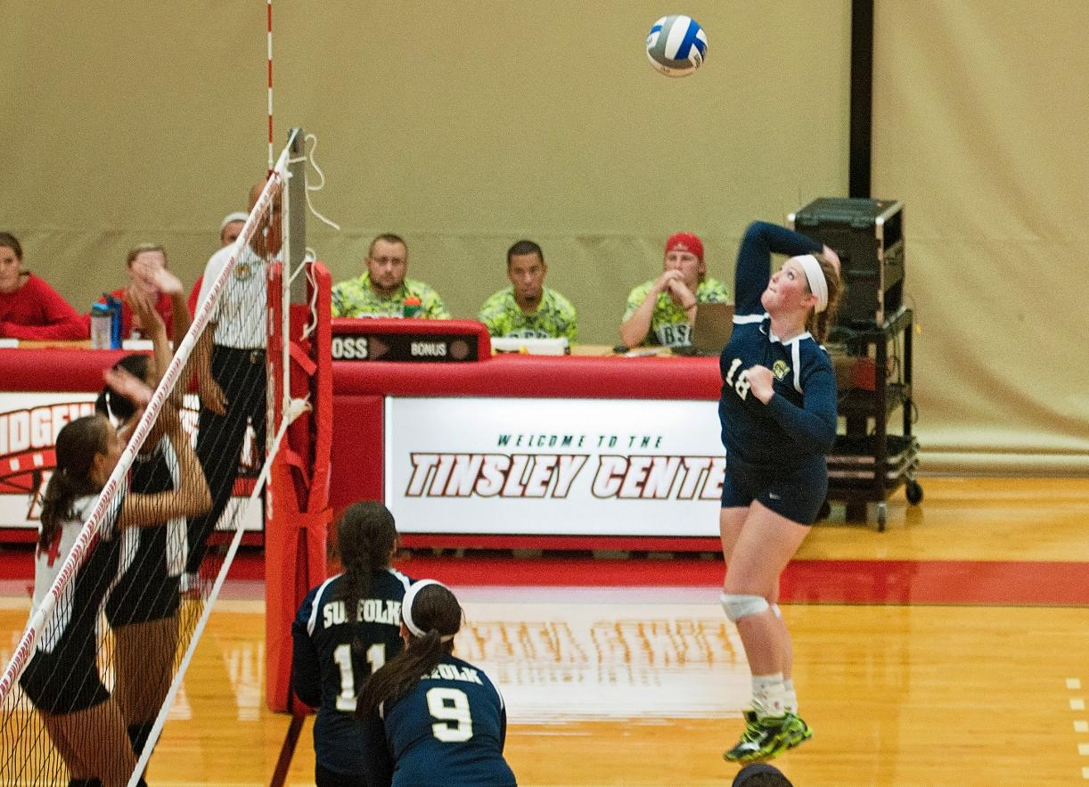 Volleyball Drops Contests with Coast Guard and Lasell