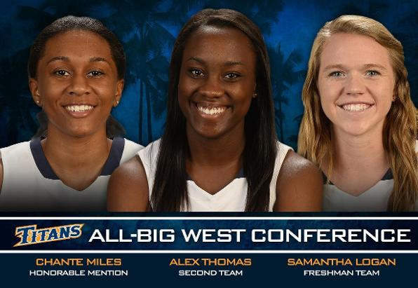 Titan Trio Earns All-Big West Honors