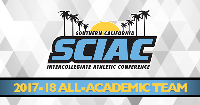 SCIAC Honors 2017-18 All-Academic Team