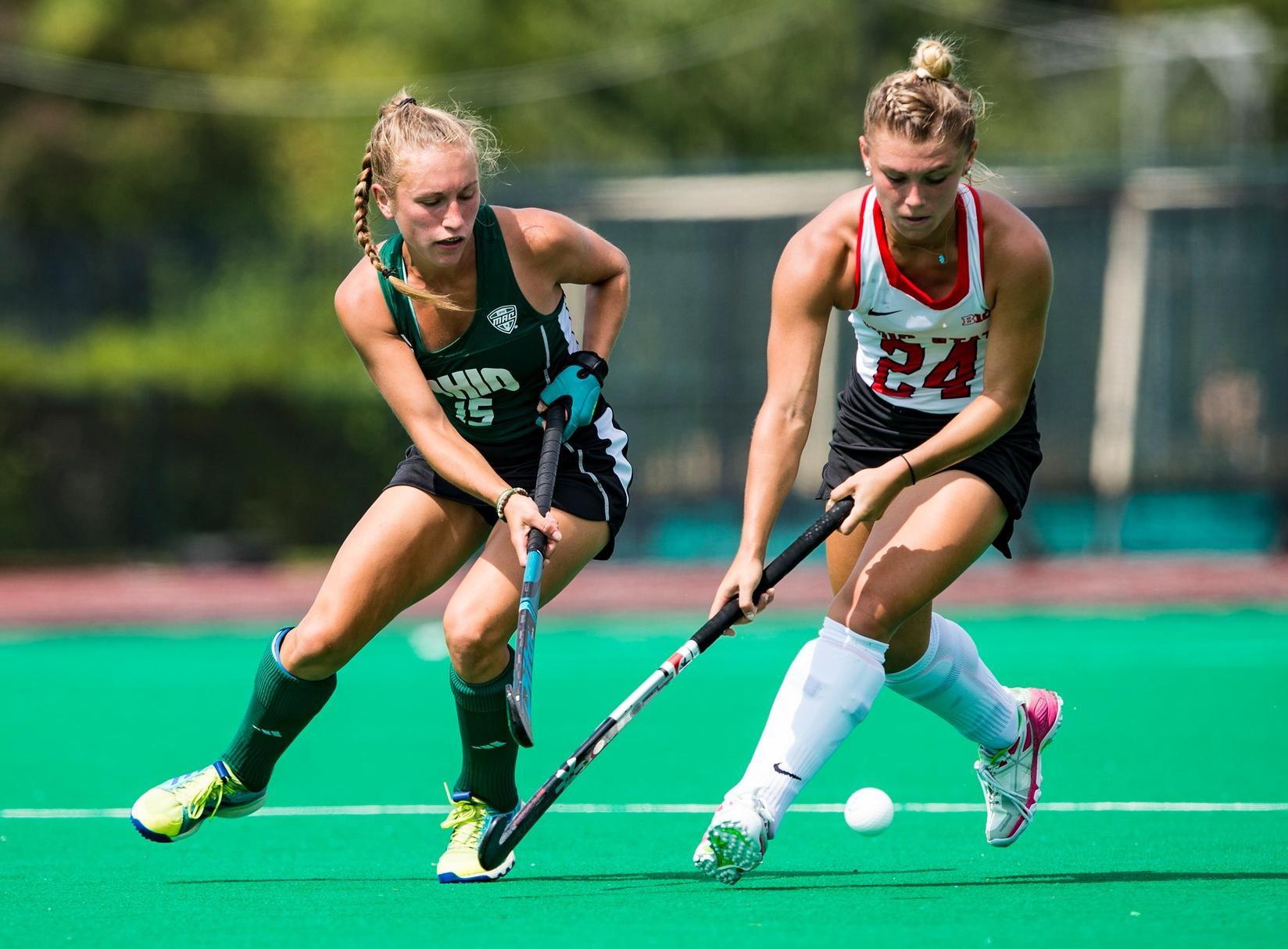 Russell Leads Ohio Field Hockey to 2-0 Victory at CMU